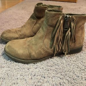 G by Guess fringe ankle booties size 8